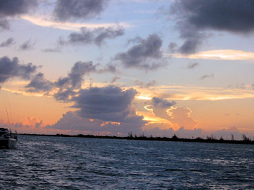 Sunset from a sailboat off Anegada Island